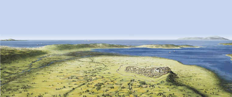Troia Panorama.jpg reconstruction illustration von Christoph Haußner